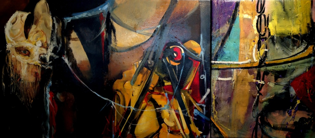 Industry 3 - oil on canvas 121cmx91. sold